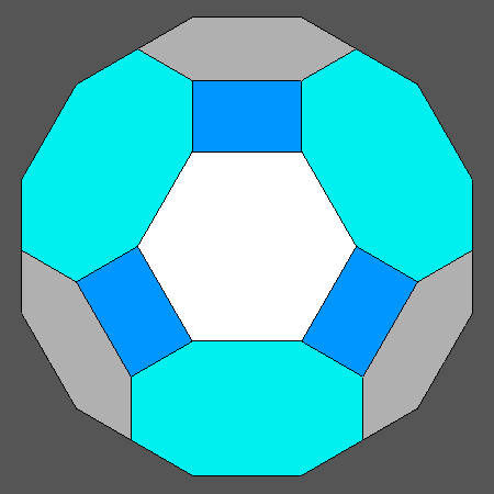 hexagonal regular faces d